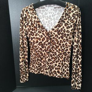 Eye Candy Long Sleeve Button up Animal Print